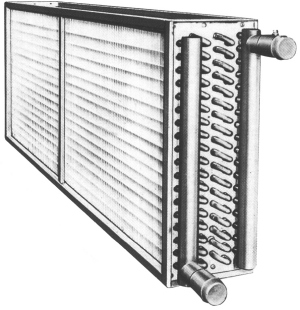 Heat exchanger, heating cooling coil